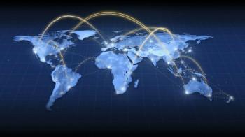 wereld met connecties